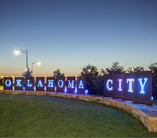 Oklahoma City Art installation at Will Rogers World Airport