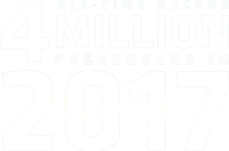 2017 was our biggest year yet with over 4 million passengers