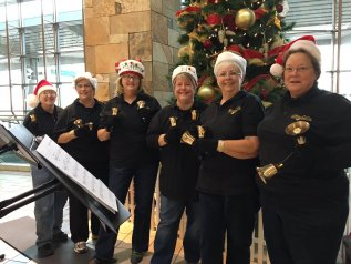 Performers from the Oklahoma City Handbell Ensemble