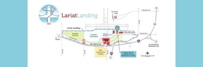 Lariat Landing Development Area Map showing SkyWest Location